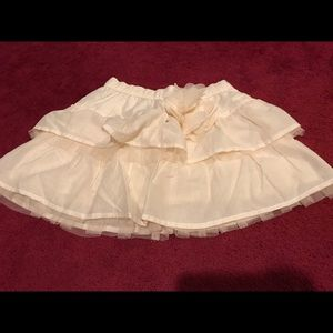 Abercrombie & Fitch Off- White/ Beige Mini Skirt